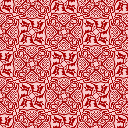 Red seamless ornament Stock Vector - 6502437