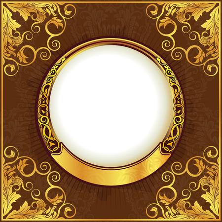 Gold vintage frame Stock Vector - 6502433