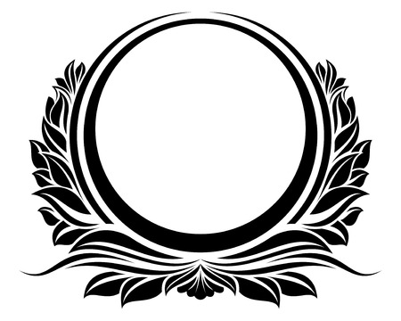 circle design: Black circle frame