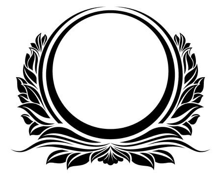 retro circles: Black circle frame