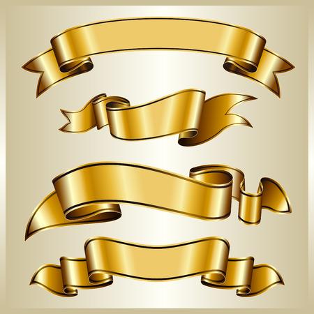 banner orizzontali: Oro ribbon collection