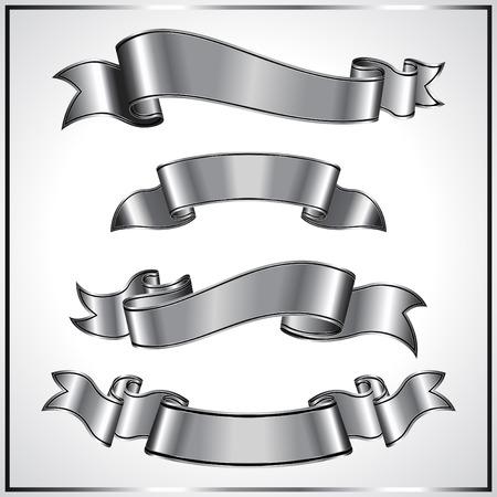 ���silver ribbon���: Silver ribbon collection Illustration