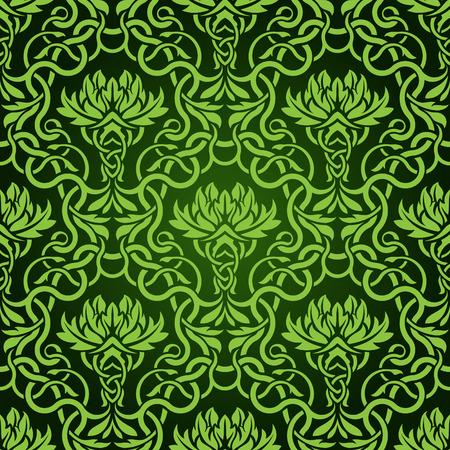 Green seamless wallpaper pattern Stock Vector - 6688584