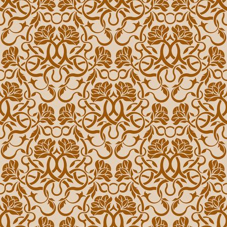 Brown seamless wallpaper pattern Stock Vector - 6688590