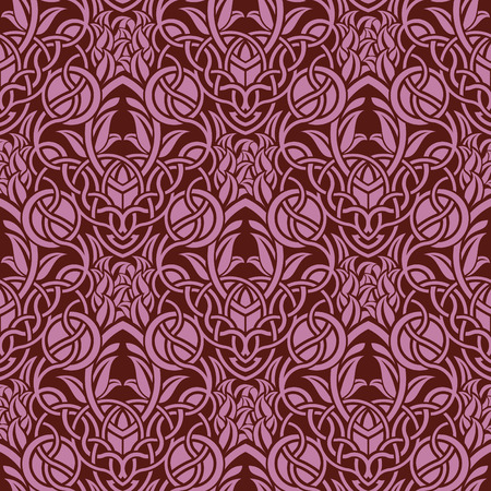 Red seamless wallpaper pattern Stock Vector - 6688588