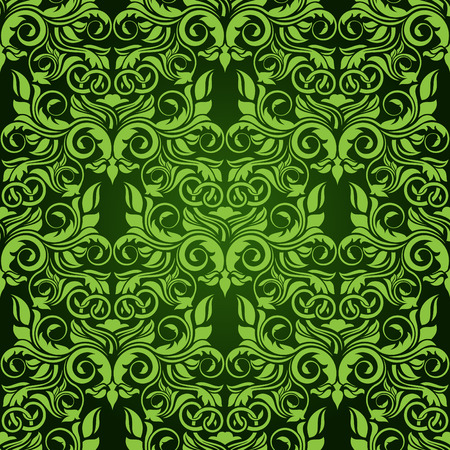 Green seamless wallpaper pattern Stock Vector - 6688587