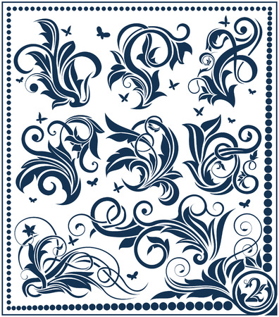 Floral design element collection Stock Vector - 6772123