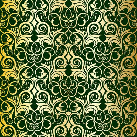 Green seamless wallpaper pattern