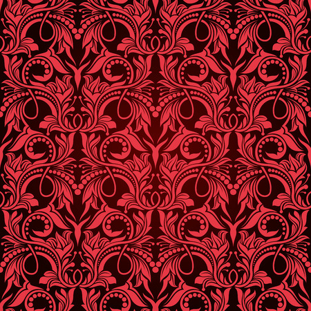 Red seamless wallpaper pattern Stock Vector - 6772129