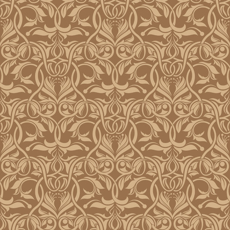 Brown seamless wallpaper pattern Stock Vector - 6772125