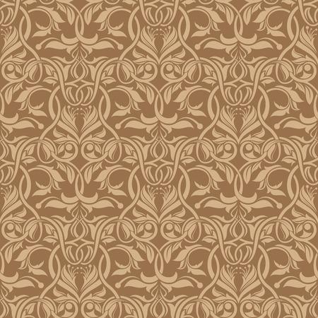 Brown seamless wallpaper pattern Stock Vector - 6772125