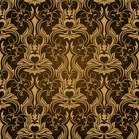 Brown seamless wallpaper pattern Stock Vector - 6864208