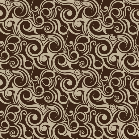 victorian textile: Brown seamless wallpaper pattern