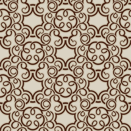 Brown seamless wallpaper pattern  Stock Vector - 8143967