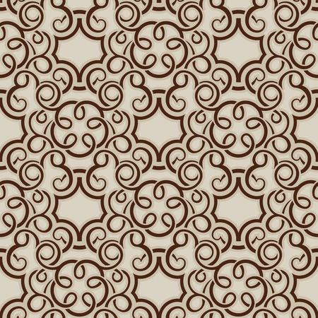 Brown seamless wallpaper pattern Stock Vector - 8143967