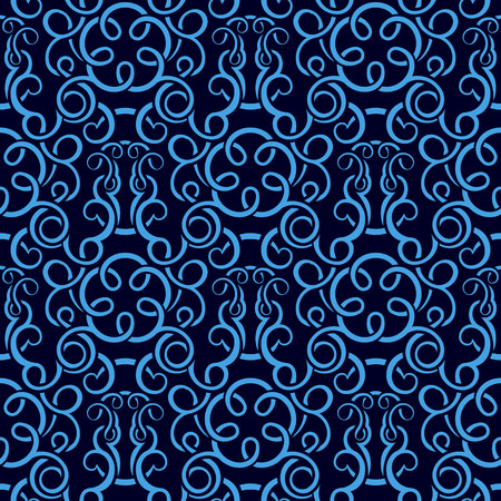 leafs: Blue seamless wallpaper pattern Illustration