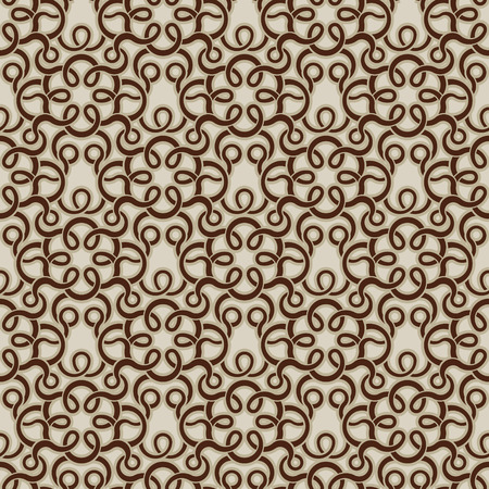 Brown seamless wallpaper pattern Stock Vector - 8143966