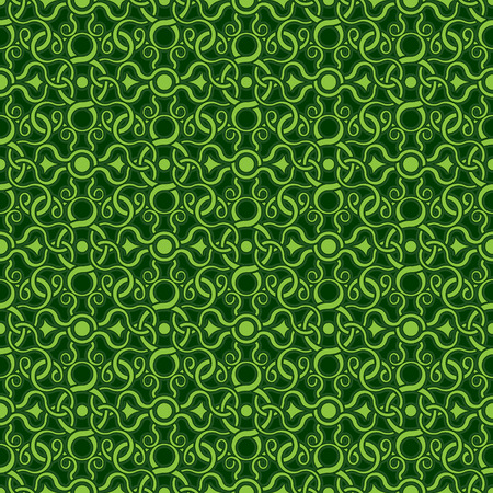 Green seamless wallpaper pattern Stock Vector - 8143980