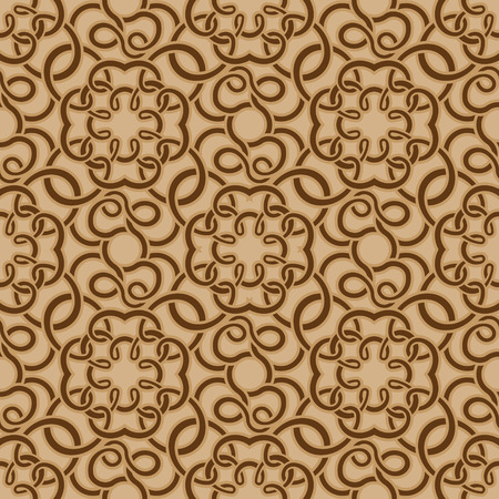 baroque pattern: Brown seamless wallpaper pattern