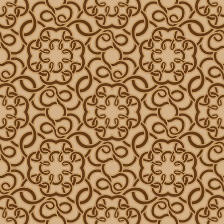 Brown seamless wallpaper pattern Stock Vector - 8214997