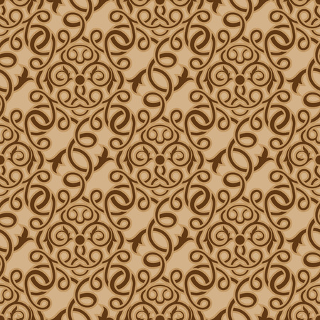Brown seamless wallpaper pattern Stock Vector - 8294956