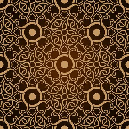 Deseń tapety bez szwu brązowy Ilustracje wektorowe