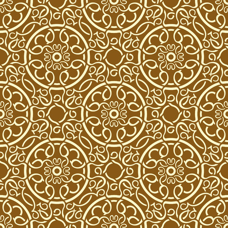 Brown seamless wallpaper pattern Stock Vector - 8573318