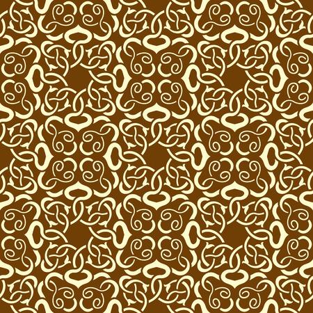 Brown seamless wallpaper pattern Stock Vector - 8690548