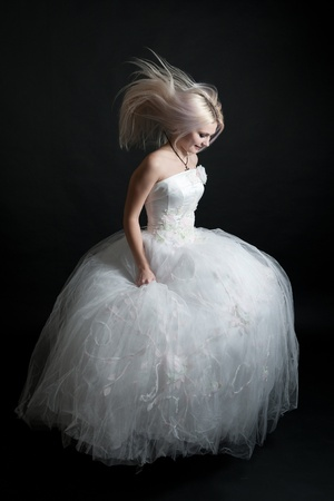 girl in a wedding dress Stock Photo