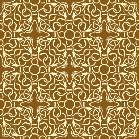 Brown seamless wallpaper pattern Stock Vector - 8802442