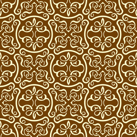 Brown seamless wallpaper pattern Stock Vector - 8978233