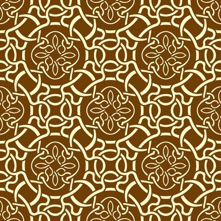 Brown seamless wallpaper pattern  Stock Vector - 9093674