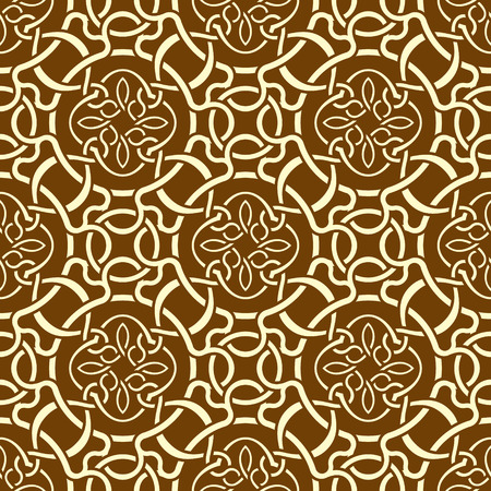 Brown seamless wallpaper pattern Stock Vector - 9093674