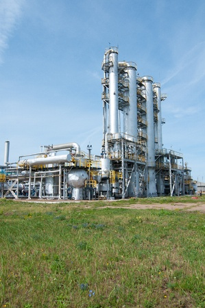 petrochemical: Ratification column. gas and oil industry