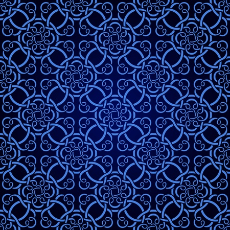 royal blue: Blue seamless wallpaper pattern  Illustration
