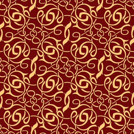red seamless wallpaper pattern Stock Vector - 9673307