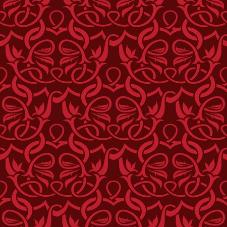 venetian: red seamless wallpaper pattern Illustration