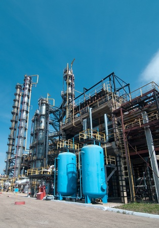 view gas processing factory. gas and oil industry Stock Photo - 9858244