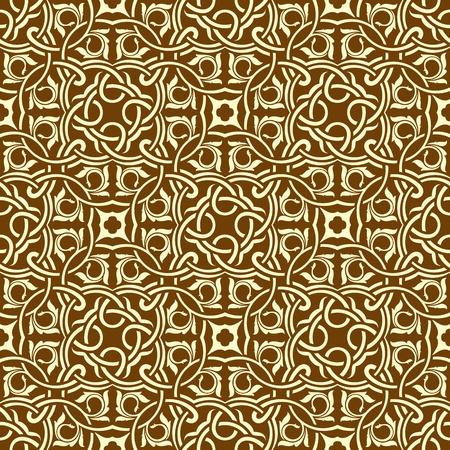 gold leafs: brown seamless wallpaper pattern
