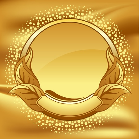 gold frame on gold background Stock Vector - 9858241