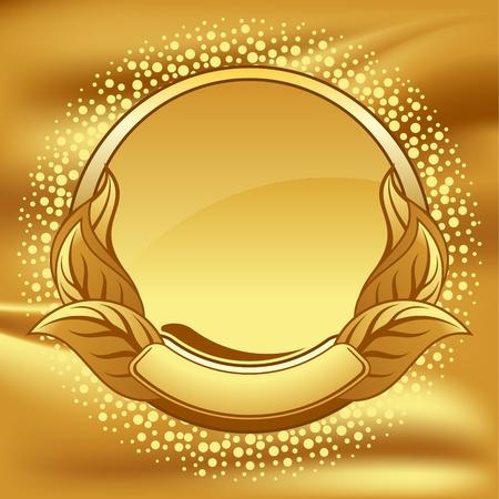 vignette: gold frame on gold background