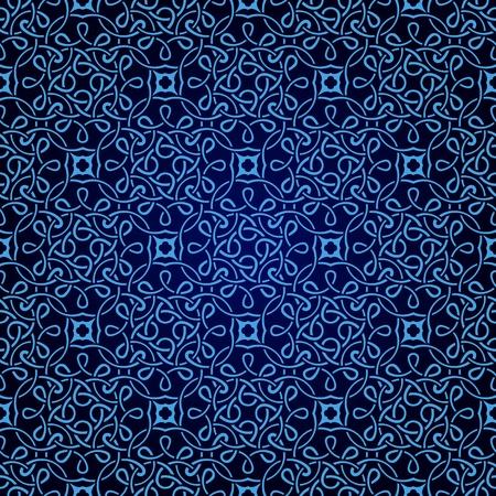 blue seamless wallpaper pattern Illustration
