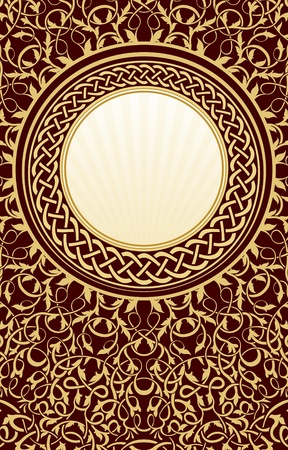 gold vintage circle frame Stock Vector - 10493546