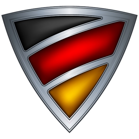 steel shield with flag germany Vector