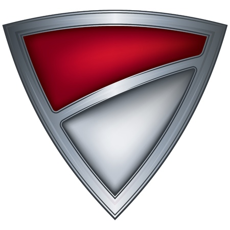 steel shield with flag monaco Stock Vector - 10644874