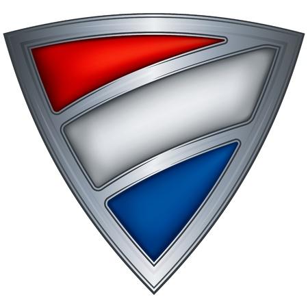 holanda bandera: Escudo de acero con bandera de los pa�ses bajos