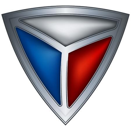 r�publique  tch�que: protection en acier avec le drapeau R�publique tch�que Illustration