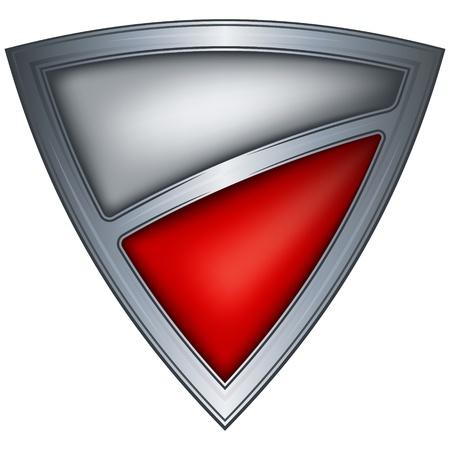 poland flag: steel shield with flag poland  Illustration