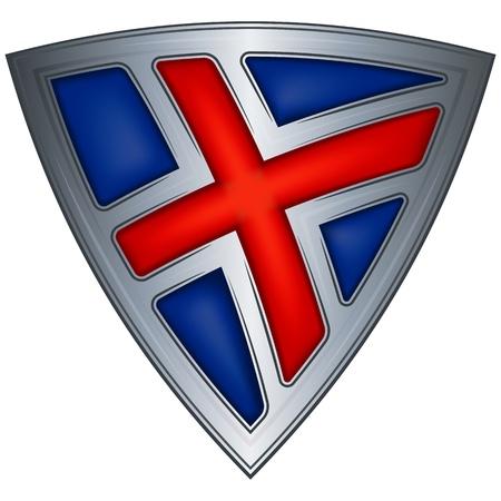 Staal schild met vlag IJsland