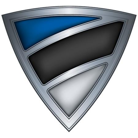 Steel shield with flag Estonia  Vector